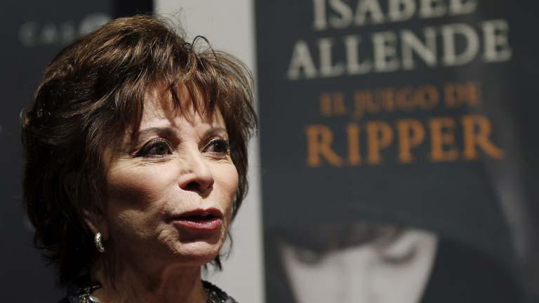 Isabel Allende en la presentación de su libro en Madrid.